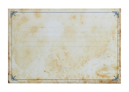 Grunge notebook isolated on a white background photo