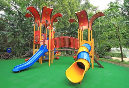 Colorful children playground in the park Stock Photo - 15943939