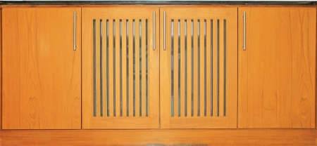 Wooden cabinet doors and handles  photo