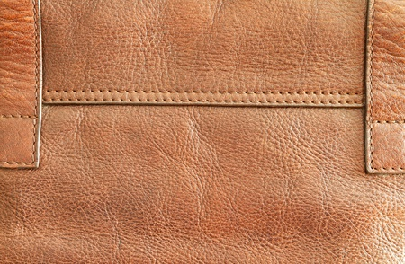 Brown leather and stitch photo