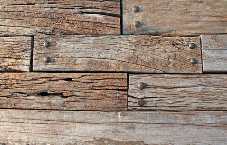 Natural wooden texture with metal knot  photo