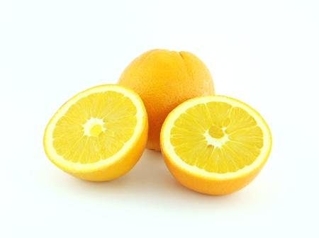 Orange fruits isolated on white background  photo