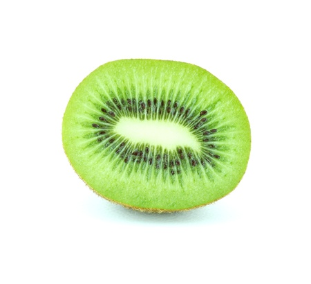 Sliced kiwi fruit isolated on white background  photo