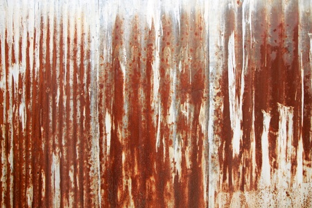 A rusty corrugated iron metal texture Stock Photo - 18690570