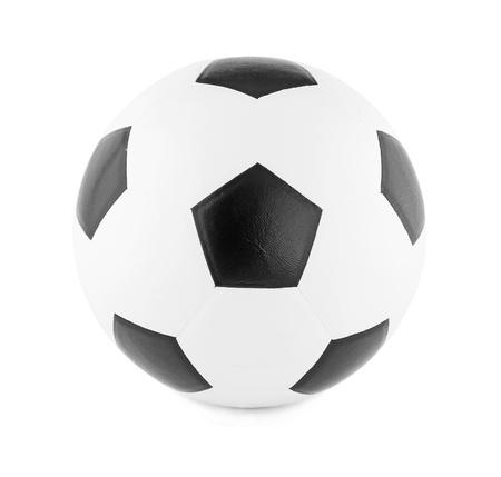 pelota de futbol: F�tbol aislado en fondo blanco
