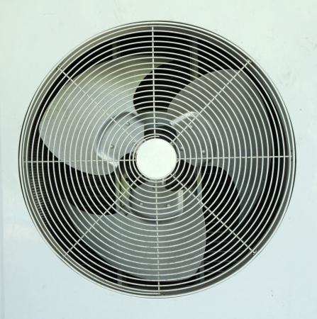 Ventilation fan of air conditioner photo
