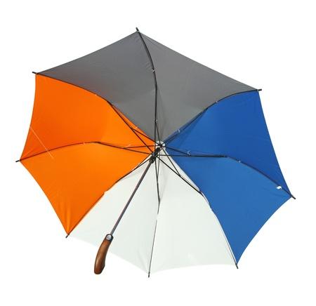 Colourful umbrella isolated on white background photo