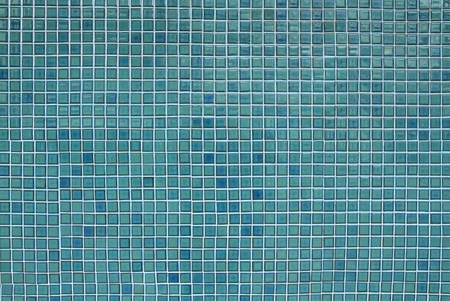Blue seamless mosaic tiles background photo