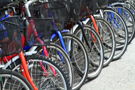 Row of bicycles  Stock Photo
