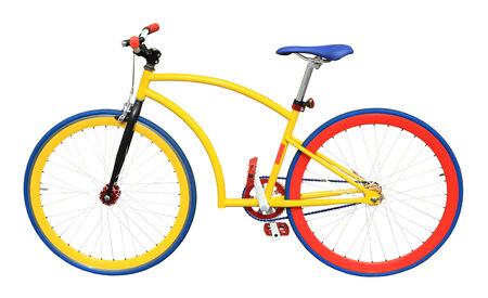 Colorful bicycle  photo