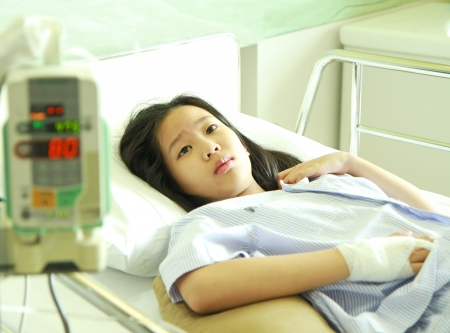 Patient in hospital bed  photo