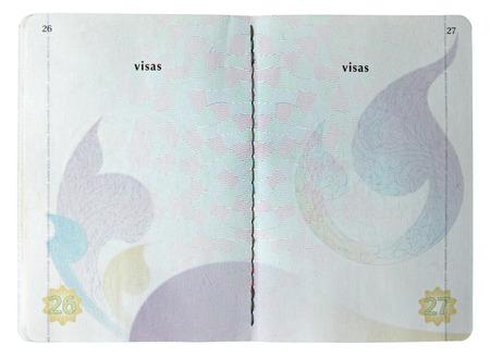 pasaporte: Pasaporte en blanco tailandés aislados en fondo blanco