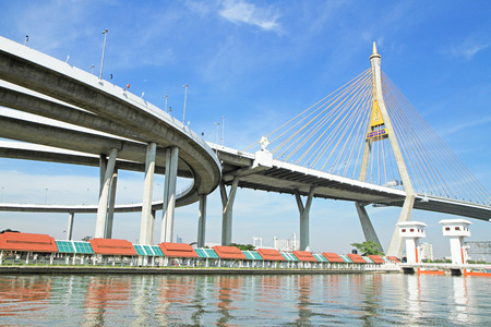 Bhumibol Bridge in Thailand photo