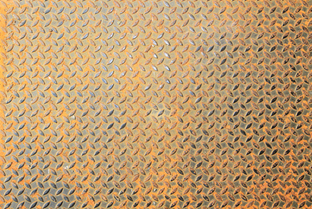 diamond plate: Background of rusty metal diamond plate Stock Photo