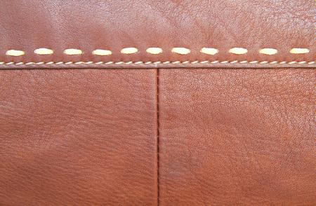 stitch: Brown leather and stitch