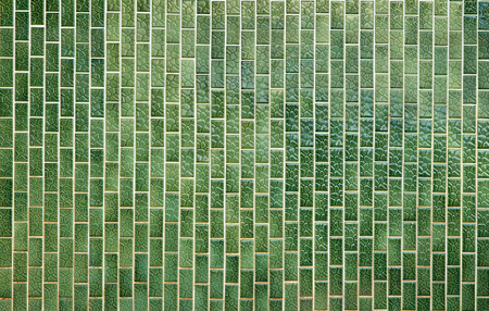 tiled wall: Green tiled wall