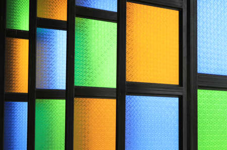 stained glass windows: Row of stained glass windows