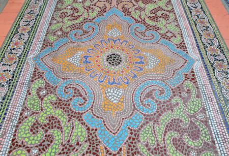 tiled floor: Mosaic tiled floor background