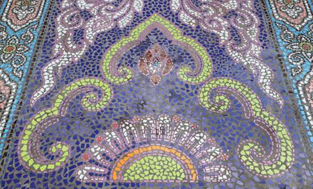 tiled: Mosaic tiled floor background