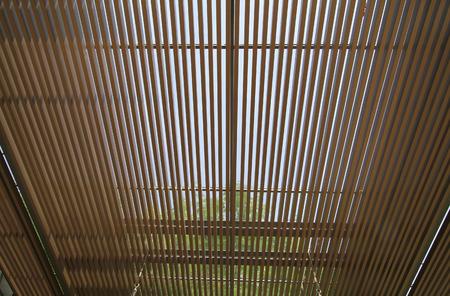 lath: Wooden lath ceiling