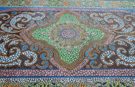 mosaic floor: Mosaic tiled floor background