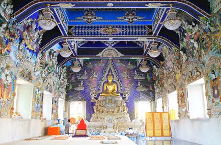 thai buddha: Buddha statue in beautiful Thai style church
