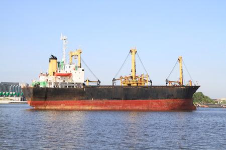 ship: Cargo ship Stock Photo