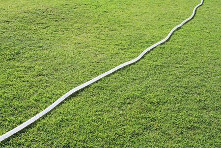 plastic conduit: Rubber tube on green field