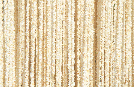popped: Thai traditional garland made from popped rice Stock Photo