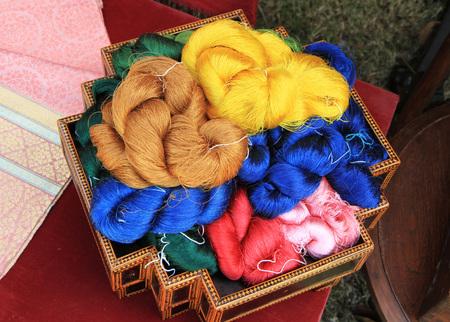 silk thread: Raw silk thread
