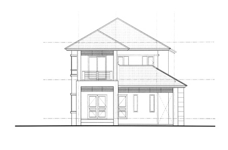 front of: House plan - Front view