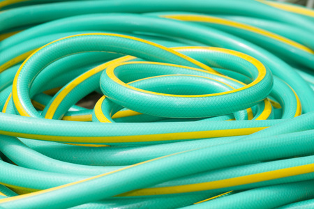 plastic pipe: Green water rubber tube