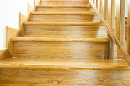 Modern style wooden stairs, Interior design. Archivio Fotografico