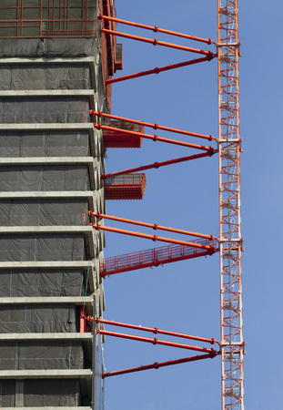 High-rise building under construction 写真素材