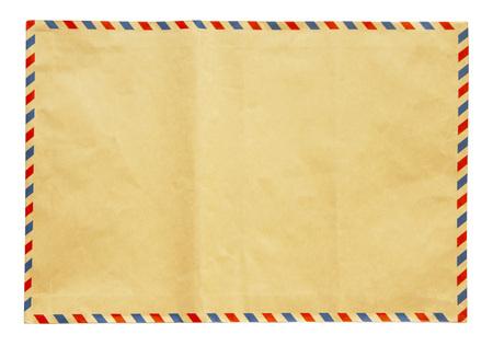 Brauner Umschlag lokalisiert auf weißem Hintergrund