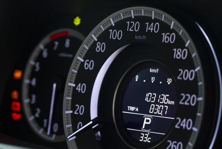 Close up image of modern car dashboard