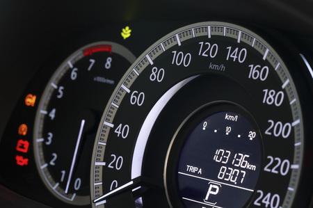 Close up image of modern car dashboard