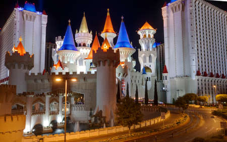 LAS VEGAS, NV -  APRIL 10: Excalibur Hotel and Casino on April 10, 2011 in Las Vegas, Nevada. Its owner - MGM Resorts reported strong net revenue gain of 43% to $2.23 billion in third quarter 2011 Editorial