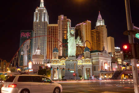 LAS VEGAS, NV -  APRIL 10: New York-New York Hotel on April 10, 2011 in Las Vegas, Nevada. Its owner - MGM Resorts reported strong net revenue gain of 43% to $2.23 billion in third quarter 2011