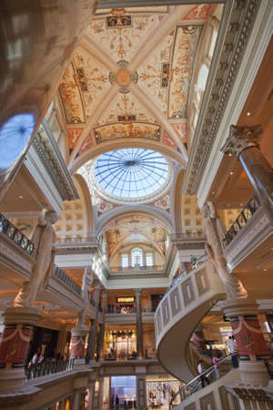 LAS VEGAS, NEVADA - APRIL 12, 2011: Entry of The Forum Shops at Caesars  in Las Vegas on April 12, 2011. Luxury mall connected to Caesars Palace hotel is one of the most successful high-end shopping malls in the United States