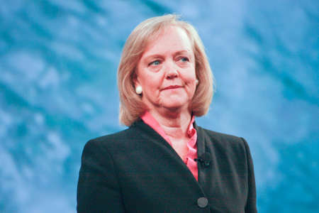 LAS VEGAS, NV ? JUNE 5, 2012: HP president and chief executive officer Meg Whitman delivers an address to HP Discover 2012 conference on June 5, 2012 in Las Vegas, NV
