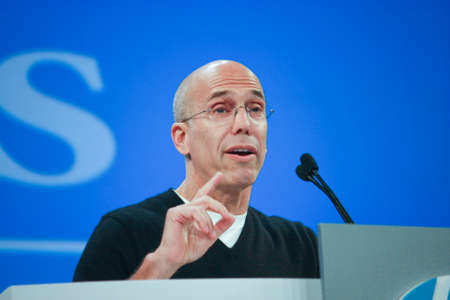 jeffrey: LAS VEGAS, NV ? JUNE 5, 2012: DreamWorks Animation chief executive officer Jeffrey Katzenberg delivers an address to HP Discover 2012 conference on June 5, 2012 in Las Vegas, NV