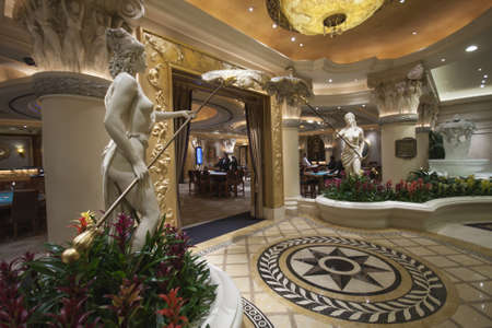 LAS VEGAS, NEVADA - APRIL 12, 2011: Caesars Palace hotel gambling hall on April 12, 2011 in Las Vegas, Nevada. Caesars Palace is a luxury hotel and casino containing 3.348 rooms Stock Photo - 17393164