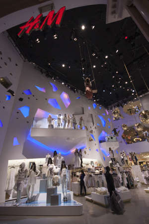 LAS VEGAS, NEVADA - APRIL 12, 2011: H&M store in Forum Shops at Caesars Palace  on April 12, 2011 in Las Vegas. H&M is an international fashion retail corporation employs 87,000 people  Stock Photo - 17393157