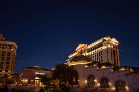 caesars palace: LAS VEGAS, NV -  JUNE 12, 2013   Caesars Palace resort facade on June 12, 2013 in Las Vegas, Nevada  Caesars Palace is a luxury hotel and casino containing 3960 rooms located on Las Vegas Strip