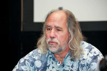 Orlando, Florida, Verenigde Staten - 7 juni 2011 Chief Scientist van IBM Grady Booch beantwoordt vragen op Innovate conferentie op 7 juni 2011 in Orlando, Florida Hij staat bekend als uitvinder van UML taal