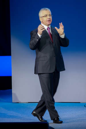 ATLANTA, GA, USA, MARCH 4, 2014 - Microsoft Vice President Kirill Tatarinov makes speech at Microsoft Convergence conference in Georgia World Congress Center on March 4, 2014 in Atlanta, GA