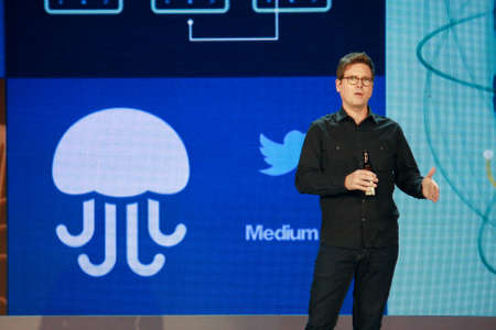 ATLANTA, GA, USA, MARCH 5, 2014 - Twitter founder Biz Stone makes speech at Microsoft Convergence conference in Georgia World Congress Center on March 5, 2014 in Atlanta, GA