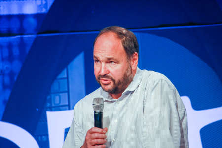 LAS VEGAS, NV – MAY 6, 2014: CEO Pivotal Paul Maritz makes speech at EMC World 2014 conference on May 6, 2014 in Las Vegas, NV