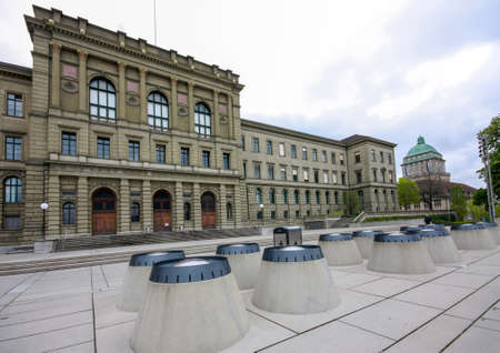 institute of technology: Swiss Federal Institute of Technology main building in Zurich Stock Photo